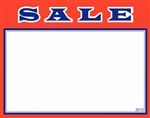 """Sale"" Sign Card with Red Border"