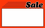 """Sale"" Sign Card with Fire Orange Border"