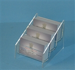Two Pocket Acrylic Business Card Holder