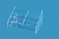 Six Pocket Acrylic Business Card Holder