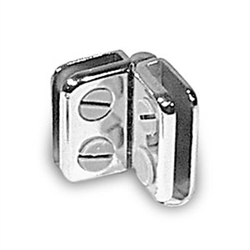 <!08>Glass Door Hinged Chrome Connector