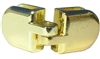 <!09>Glass Door Brass Hasp 2pc Set