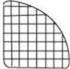 Mini Grid 1/4 Radius Panel Black 14""
