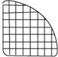 Mini Grid 1/4 Radius Panel White 14""