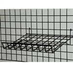 "Gridwall Wire Slant Shelf 15""D x 24""W"