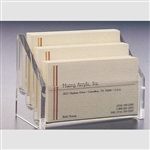 Three Tier Horizontal Business Card Holder