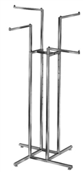 Four Straight Arm Garment Rack