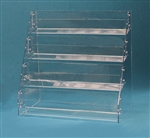 4 Tier Angled Back Acrylic Counter Display Tray
