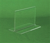 Acrylic Sign Holder - Bottom Loading Upright