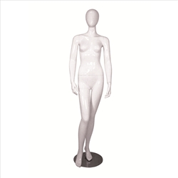 Glossy Egghead Mannequin w/Stand Female 1