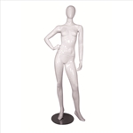 Glossy Egghead Mannequin w/Stand Female 3