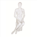 Glossy Egghead Mannequin w/Stand Female 5