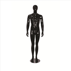 Glossy Egghead Mannequin w/Stand Male 1