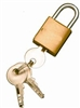 "Brass Padlock  7/16""W Shackle"