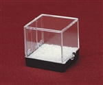 "Plastic Box 1.25"" Cube Clear and Black"