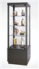 "Display Tower 18"" x 18"" x 74"", 3 shelves, swinging door"