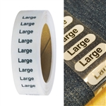 "Size Label 5"" adhesive strip"