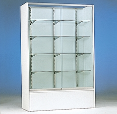 "Jahabow Upright Display Case, Laminate Sides 48""W x 18""D x 72""H"