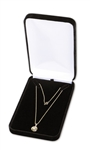 "Black Velvet Necklace Box 4.25""x7""x1.625"""