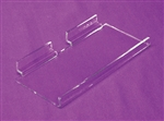 "Acrylic Slatwall Economy Shelf 1"" Front Lip Clear 10""x3.5"""