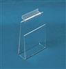 "ZCB64 Acrylic Slatwall Book/Video 6"" Shelf Clear"