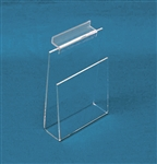 "Acrylic Slatwall Book/Video 4"" Shelf Clear"