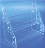 "<!02>Acrylic Slatwall Three Tier Narrow Tray Clear 13.375""x14.25""x7.25"""