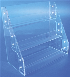 "<!01>Acrylic Slatwall Three Tier Tray Clear 13""x21""x7.25"""