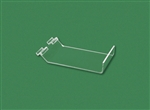 "Acrylic Slatwall Slant Shelf with Lip Clear 11""H x 9""W x 2""Lip"
