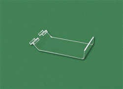 "Acrylic Slatwall Slant Shelf with Lip Clear 8""H x 6""W x 1.5""Lip"