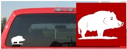 Standing Boar Decal