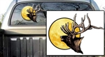 Elk Ghost Head with Moon Decal