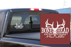 Bone Head Outfitters White Logo Decal