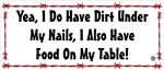 Dirt Under My Nails Decal