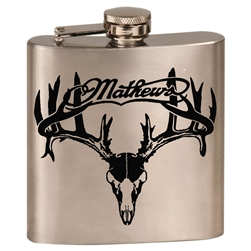 Mathews Buck Skull Flask