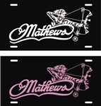 Mathews Archery Bow WOMAN License Plate