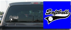 Softball Pennant Decal