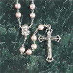 Rosary Madonna Pink Pearl