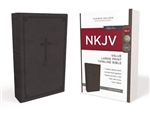 NKJV Value Thinline Bible, Large Print (Red Letter Edition) - Black