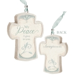 My Peace Bereavement Cross Ornament