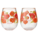 Best of the Bunch Poppy: 2 Piece Acrylic Glass Set
