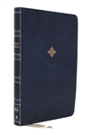 NKJV Large-Print Thinline Reference Bible - Navy