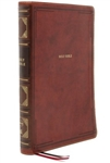 NKJV Thinline Reference Bible, Comfort Print - Brown