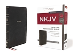 NKJV Thinline Reference Bible, Red Letter, Comfort Print - Black