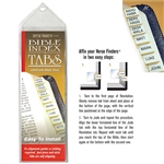 Gold Tabs - Horizontal Bible Index Tabs Pack