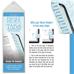 Soft Blue Damask Tabs - Horizontal Bible Index Tabs Pack