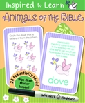 Animals of the Bible: Wipe-Clean Flash Card Set