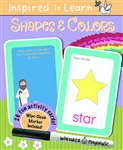 Shapes & Colors: Wipe-Clean Flash Card Set