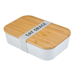 Say Grace Bamboo Lunch Box