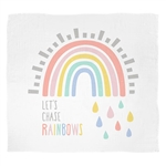 Let's Chase Rainbows Swaddle Blanket